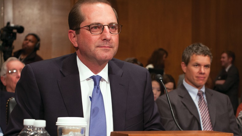 Alex Azar, Trump's HHS secretary nominee, who spoke at the Senate HELP committee 11/29/17