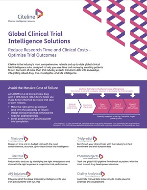 Global Clinical Trial Intelligence Solutions