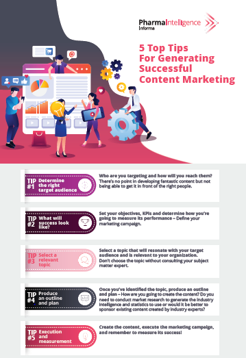 5 Top Tips for Generating Sucessful Content Marketing Infographic Cover