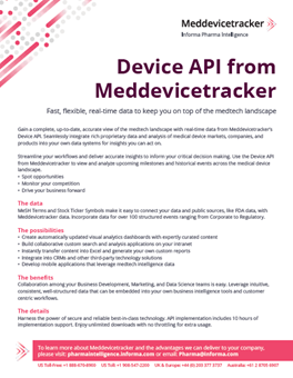 Devices API - Flyer
